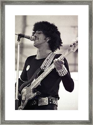 Phil Lynott Of Thin Lizzy Black Rose Tour At Day On The Green 4th Of July 1979 - Unreleased  Framed Print