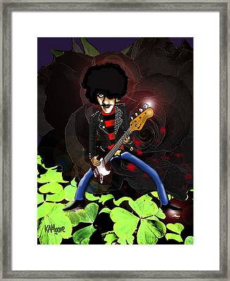 Phil Lynott Of Thin Lizzy Framed Print