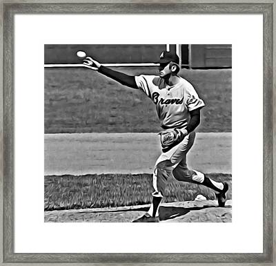 Phil Niekro Framed Print by Florian Rodarte