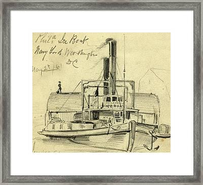 Phila. Ice Boat. Navy Yard. Washington Dc May 2361 Framed Print