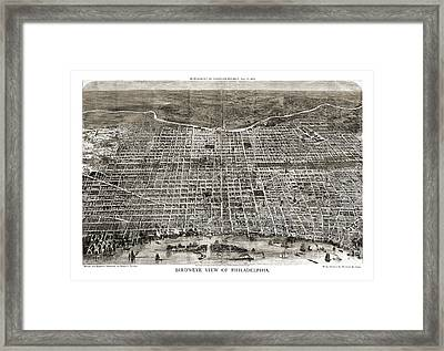 Philadelphia - Pennsylvania - 1872 Framed Print by Pablo Romero