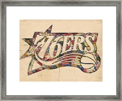 Philadelphia 76ers Poster Art Framed Print by Florian Rodarte