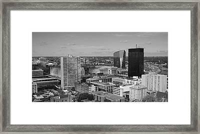 Philadelphia - A View Across The Schuylkill River Framed Print by Rona Black