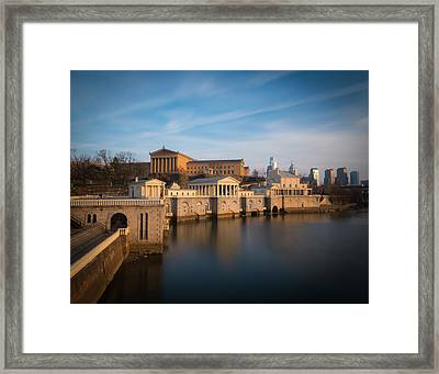 Philadelphia Art Museum And Waterworks Framed Print by Aaron Couture