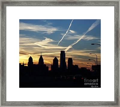 Philadelphia At Dusk Framed Print by Lyric Lucas