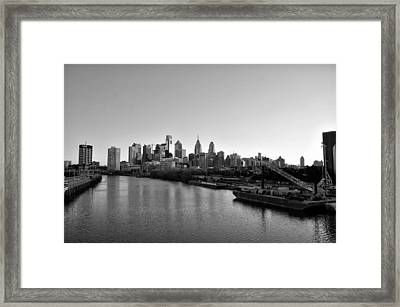 Philadelphia Black And White Framed Print
