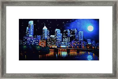Philadelphia Black Light Framed Print