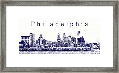 Philadelphia Blueprint  Framed Print