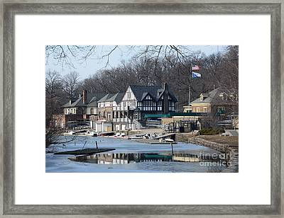 Philadelphia - Boat House Row Framed Print by Cindy Manero