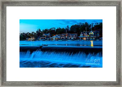 Philadelphia Boathouse Row At Sunset Framed Print