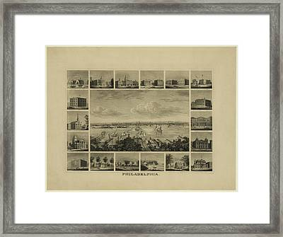 Philadelphia By J Serz Framed Print