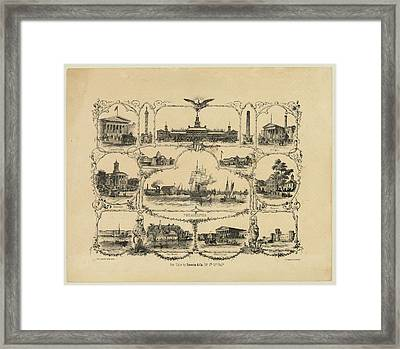 Philadelphia By James Fuller Queen Framed Print