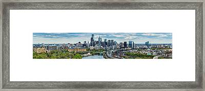 Philadelphia Center City, Schuylkill Framed Print by Panoramic Images