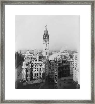 Philadelphia City Hall 1900 Framed Print by Bill Cannon