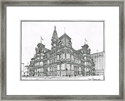 Philadelphia City Hall 1911 Framed Print