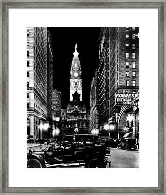 Philadelphia City Hall 1916 Framed Print by Benjamin Yeager