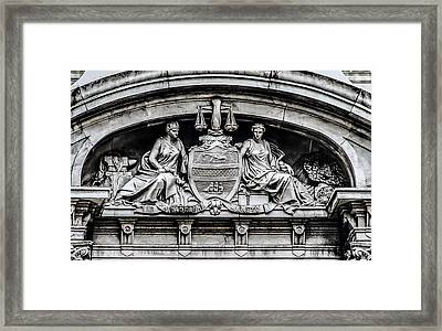 Philadelphia City Hall - City Seal  Framed Print