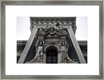 Philadelphia City Hall Dormer Window Framed Print by Bill Cannon