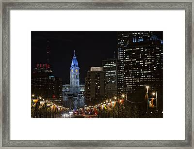 Philadelphia City Hall Framed Print by Eduard Moldoveanu
