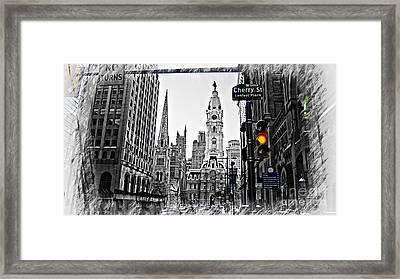 Philadelphia City Hall-modern Framed Print by Douglas Barnard