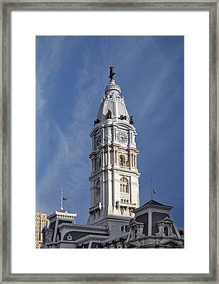 Philadelphia City Hall Tower Framed Print