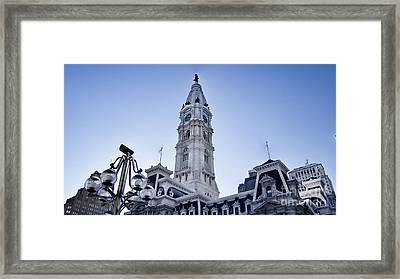Philadelphia City Hall V3 Framed Print by Douglas Barnard