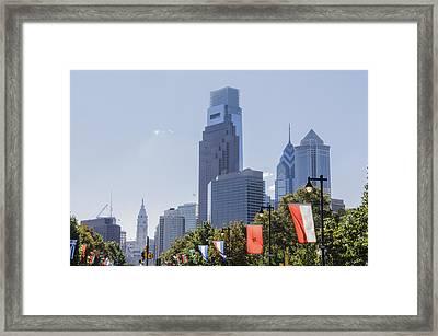 Philadelphia - City On The Rise Framed Print
