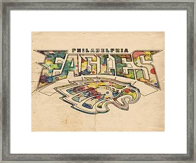Philadelphia Eagles Poster Art Framed Print