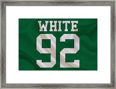 Philadelphia Eagles Reggie White Framed Print by Joe Hamilton