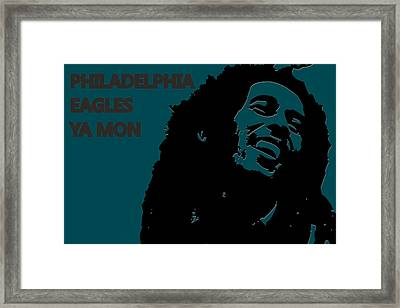 Philadelphia Eagles Ya Mon Framed Print by Joe Hamilton