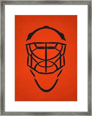 Philadelphia Flyers Goalie Mask Framed Print