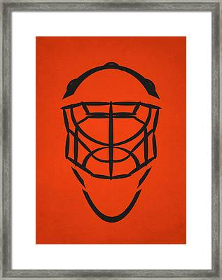 Philadelphia Flyers Goalie Mask Framed Print by Joe Hamilton