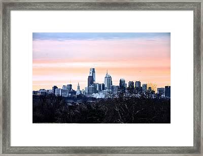 Philadelphia From Belmont Plateau Framed Print by Bill Cannon