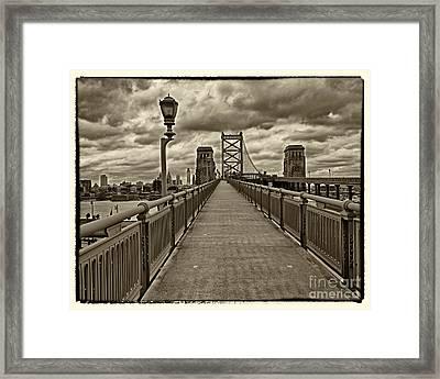 Philadelphia From Ben Franklin Bridge 1 Framed Print