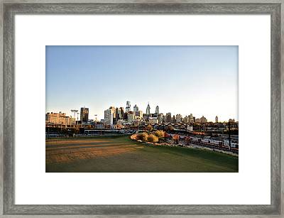 Philadelphia From South Street Framed Print by Bill Cannon