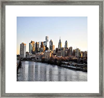 Philadelphia In The Morning Light Framed Print by Bill Cannon