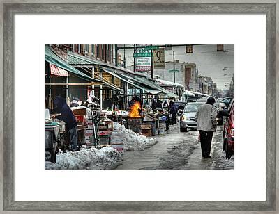 Philadelphia Italian Market Framed Print by Lori Deiter