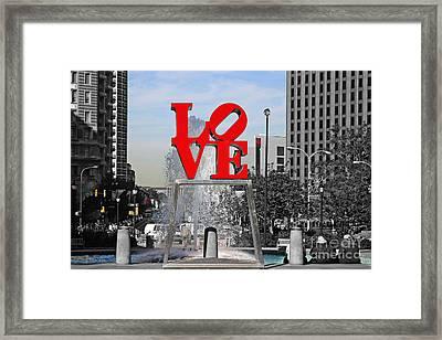 Philadelphia Love 2005 Framed Print by John Rizzuto
