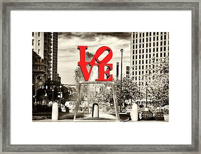 Philadelphia Love Mixed Framed Print by John Rizzuto