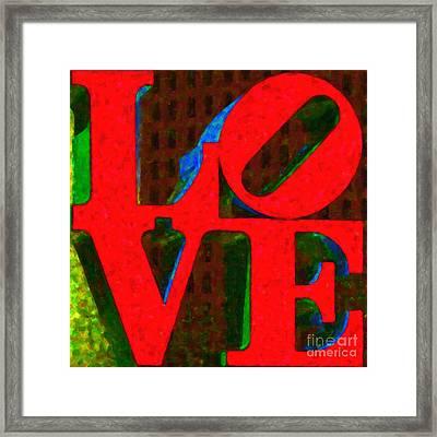 Philadelphia Love - Painterly V1 Framed Print by Wingsdomain Art and Photography
