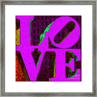 Philadelphia Love - Painterly V2 Framed Print by Wingsdomain Art and Photography