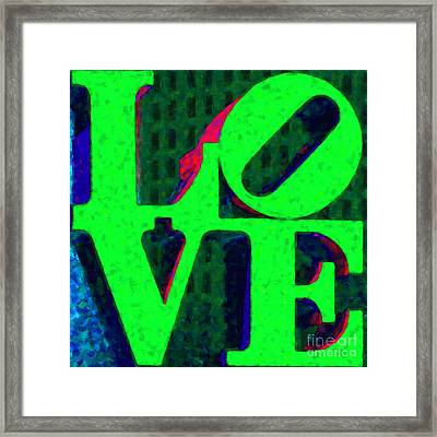 Philadelphia Love - Painterly V3 Framed Print by Wingsdomain Art and Photography