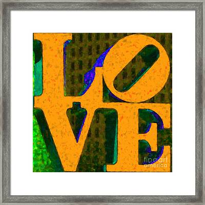 Philadelphia Love - Painterly V4 Framed Print by Wingsdomain Art and Photography
