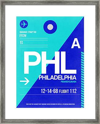 Philadelphia Luggage Poster 1 Framed Print by Naxart Studio