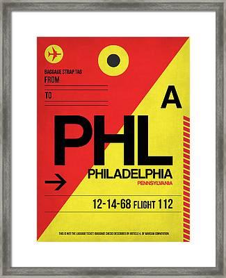 Philadelphia Luggage Poster 2 Framed Print by Naxart Studio