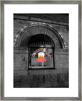 Philadelphia -old City Coffee Framed Print
