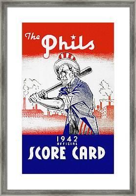 Philadelphia Phillies 1942 Score Card Framed Print