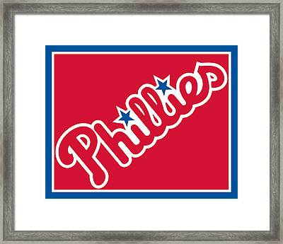 Philadelphia Phillies Baseball Framed Print by Tony Rubino