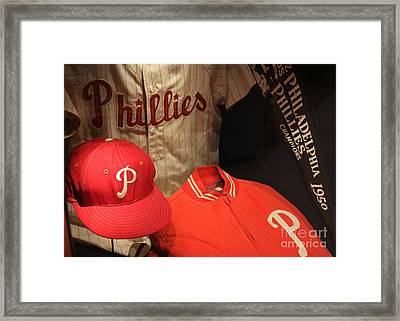 Philadelphia Phillies Framed Print by David Rucker