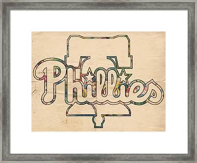 Philadelphia Phillies Logo Art Framed Print